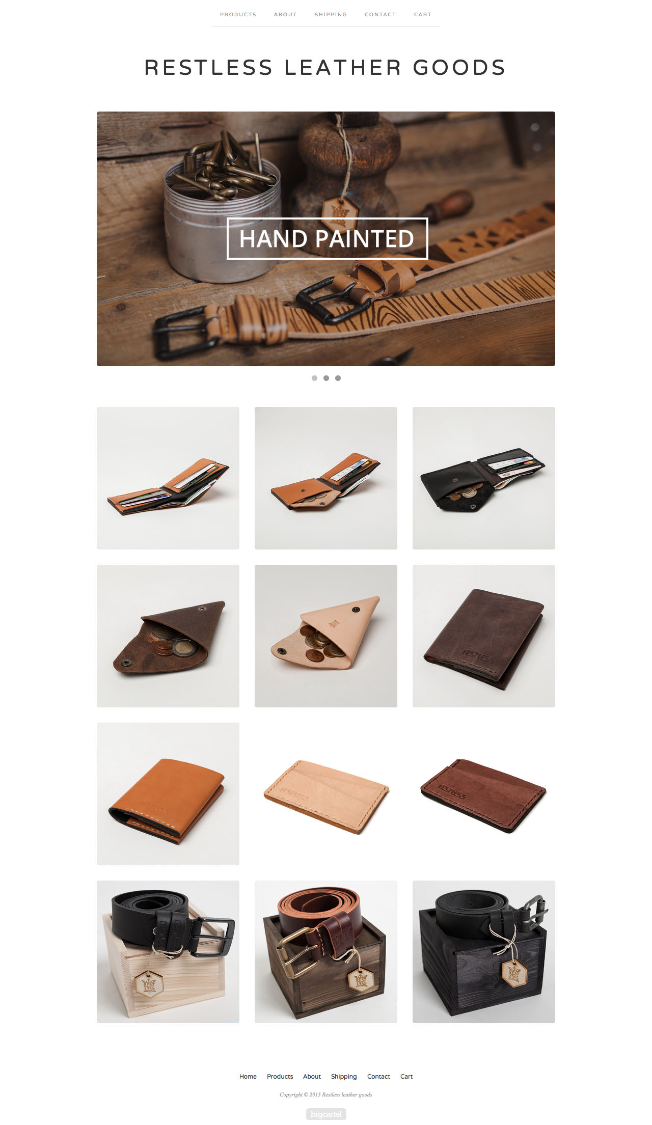 Minimal genuine leather goods. Handmade in Europe.